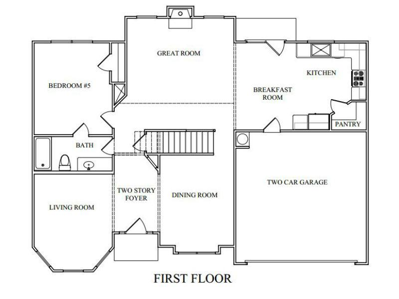 The Georgian Floor Plans New Homes In Cumming Ga